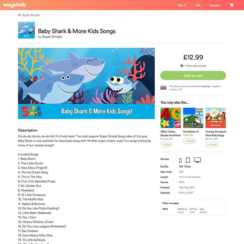 wayokids - Kids video download marketplace
